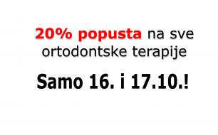 Stomatološka poliklinika Apolonija, Zagreb: 20% popusta na sve ortodontske terapije samo 16. i 17.10.